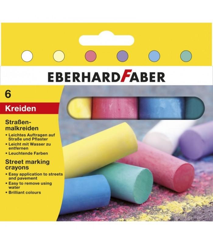 Creta desen asfalt 6 culori EBERHARD FABER