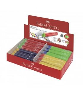 Radiera creion cu protectie grip FABER-CASTELL