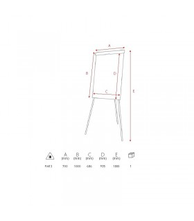 Flipchart magnetic 70 x 100 cm Basic MEMOBOARDS