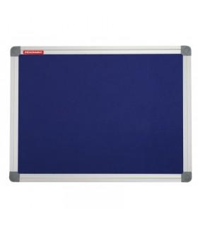 Panou textil albastru rama aluminiu MEMOBOARDS