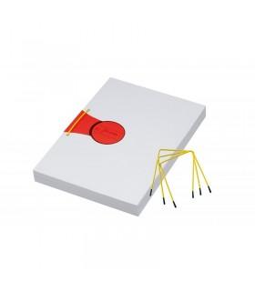 Alonja arhivare de mare capacitate, cu insertie metalica, 100/cutie, galben/negru, JALEMA Pli-Fix