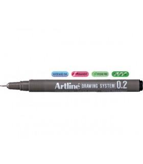 Marker pentru desen tehnic negru, varf fetru 3 buc/set ARTLINE