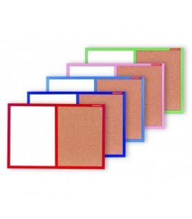 Tabla combi, whiteboard si pluta, 40 x 60 cm, rama color, MEMOBOARDS