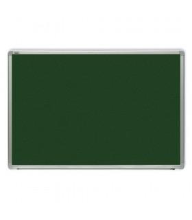 Tabla verde magnetica cu rama din aluminiu, 120 x 200 cm, pentru creta, OPTIMA