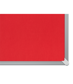 Panou textil Widescreen, rama aluminiu, rosu NOBO