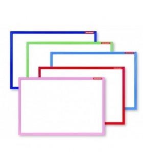 Tabla alba magnetica cu rama color de lemn, 40 x 60 cm, MEMOBOARDS