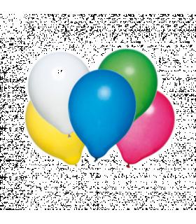 Baloane rotunde, calitate helium, biodegradabile, culori asortate, 50 buc/set HERLITZ