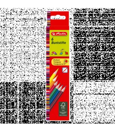 Creioane colorate triunghiulare HERLITZ