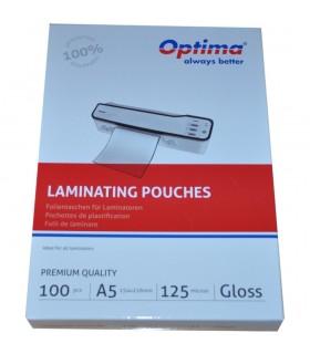 Folie pentru laminare A5 (154 x 216 mm) 125 microni 100 buc/top OPTIMA