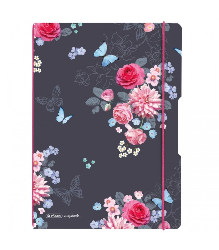 Caiet A4, 2x40 file, dictando+matematica, My.Book Flex, Ladylike Flowers HERLITZ