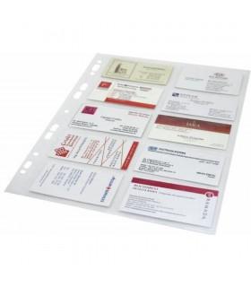 Folie protectie A4 cristal pentru 20 carti de vizita, 120 microni, 10/set, OPTIMA