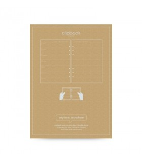 Rezerva hartie design Week A5, nedatata compatibila cu Agendele Organiser si cu Clipbook-urile FILOFAX
