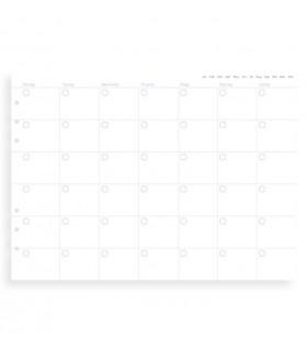 Rezerva hartie FILOFAX lunara, 12 buc/set A5 nedatata compatibila cu Agendele Organiser si cu Clipbook-urile FILOFAX