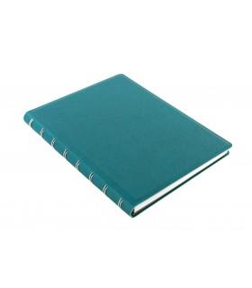 Caiet multifunctional Notebook Saffiano cu spirala si rezerve A5 Aquamarine, FILOFAX