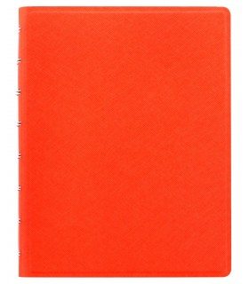 Caiet multifunctional Notebook Saffiano cu spirala si rezerve A5 Bright Orange, FILOFAX