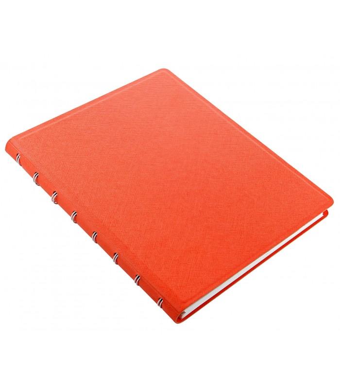 Caiet multifunctional Notebook Saffiano cu spirala si rezerve A5 Bright Orange, FILOFAX