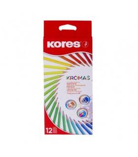 Creioane colorate triunghiulare Eco KORES