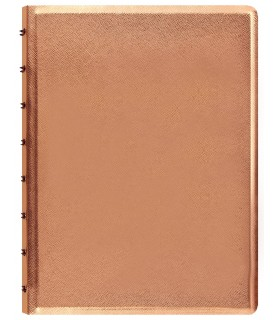 Caiet multifunctional Notebook Saffiano Metallic cu spirala si rezerve A5 Rose Gold, FILOFAX