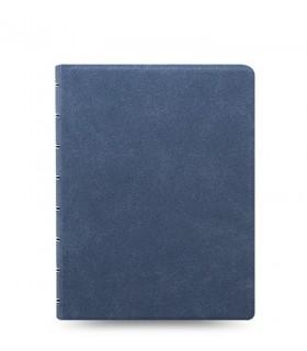 Agenda Notebook Architexture cu spirala si rezerve A5 Blue Suede FILOFAX