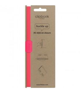 Elastic stick-on Saffiano Fluoro A5 Pink, FILOFAX