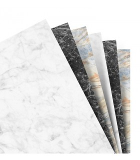 Rezerva hartie design marmura A5, Marble Plain Paper, compatibila Notebook FILOFAX