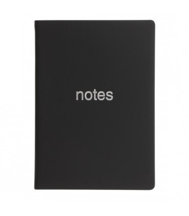 Notebook A6 Dazzle Black LETTS
