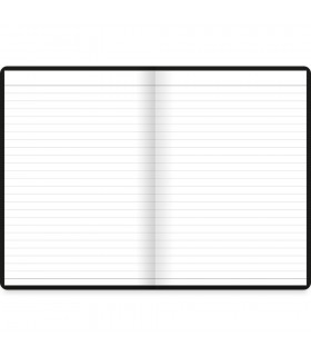 Agenda Notebook A6 Dazzle Black LETTS
