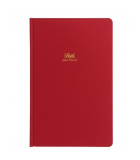 Agenda nedatata A5, tip jurnal, Red Icon LETTS