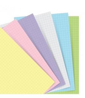 Rezerva hartie pastelata A5, Squared Paper, compatibila Notebook FILOFAX
