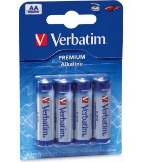 Baterii alcaline AA(R6) 4/set VERBATIM