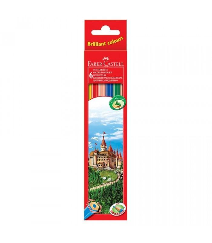 Creioane colorate in cutie carton FABER-CASTELL