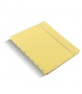 Caiet multifunctional Notebook Classic Pastel cu spirala si rezerve A5 Lemon, FILOFAX