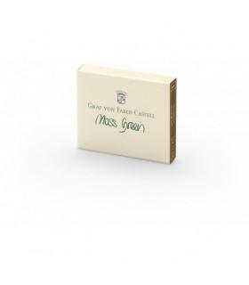 Cartuse mici cu cerneala verde 6 buc/cutie GRAF VON FABER-CASTEL