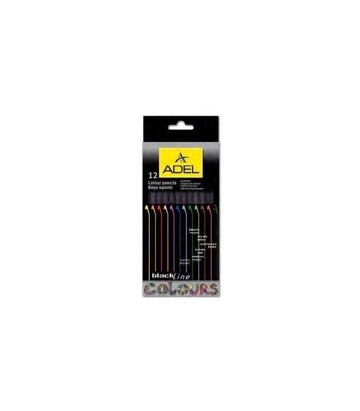 Creioane colorate mina 3.0 mm Adel