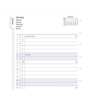 Rezerva hartie lunara, A5 datata 2020 compatibila Notebook FILOFAX