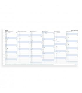 Rezerva hartie anuala A4, datata compatibila cu agenda Notebook FILOFAX