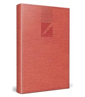 Agenda nedatata A6, coperta culoare coral, HERLITZ
