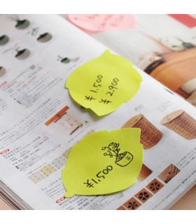 Notes adeziv 70 x 70 mm, 50 file, model cerc, 360, galben neon STICK'N