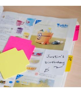 Notes adeziv 70 x 70 mm, 50 file, culori neon, Tracking notes STICK'N