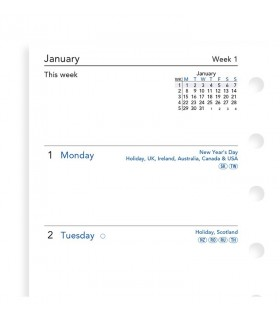 Rezerva hartie lunara Pocket, 64 buc/set datata compatibila cu agenda Notebook FILOFAX