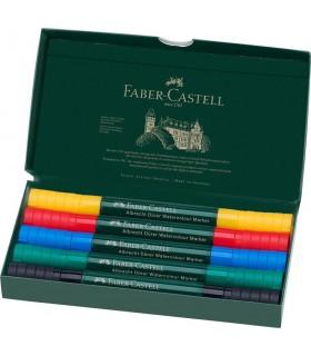 Set 5 markere solubile, 2 capete, A. Durer FABER-CASTELL