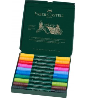 Set 10 markere solubile, 2 capete, A. Durer FABER-CASTELL
