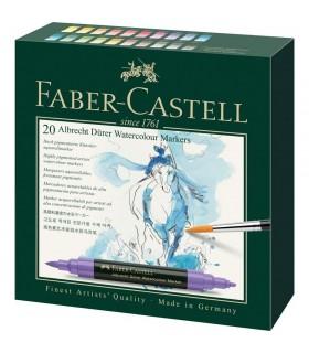 Set 20 markere solubile, 2 capete, A. Durer FABER-CASTELL