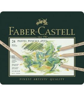 Creioane pastel Pitt 24 culori FABER-CASTELL