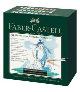 Set 30 markere solubile, 2 capete, A. Durer FABER-CASTELL