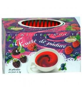 Ceai fructe de padure, 20 pliculete, supraplic si snur/ cutie, BELIN
