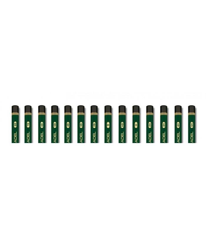 Creion grafit mina diverse tarii, culoare corp verde ADEL
