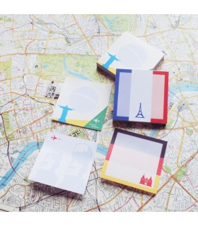 Notes adeziv 70 x 70 mm, 100 file, Magic Notes Monuments - 5 monumente STICK'N