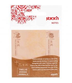 Notes adeziv 50 x 70 mm + 20 x 70 mm, 2 x 25 file, motive zodiacale chinezesti, STICK'N