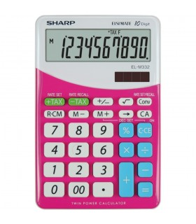 Calculator de birou, 10 digits, dual power, EL-M332BBL, SHARP